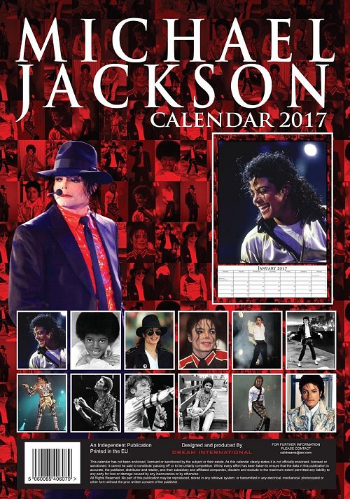 Calendrier  Michael Jackson ................ Mjhugo2017b