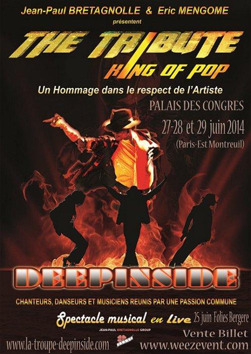 King of Pop / The Tribute à paris les 25,27, 28 et 29 juin 2014 Tribute