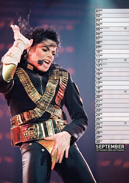 Calendrier  Michael Jackson ................ Ml4
